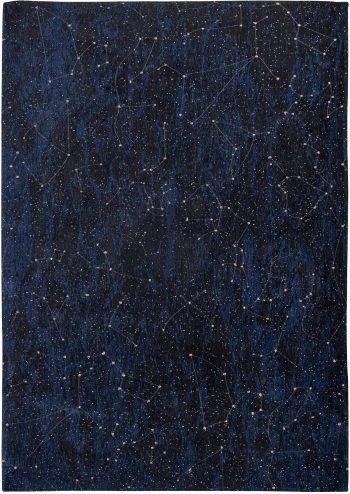 Louis De Poortere teppich Fischbacher 9060 Celestial Midnight Blue